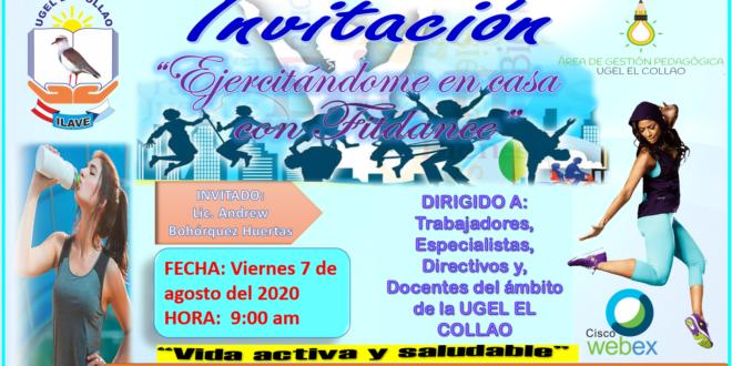EJERCITÁNDOME EN CASA CON «FITDANCE» UGEL EL COLLAO 2020